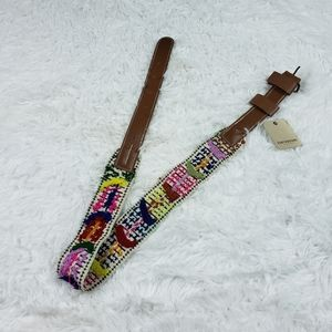 NWT EARTHBORN embroidered belt GORGEOUS!!